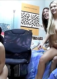 Hot college girls with great asses and perky tits get banged in dorm room with big dicks watch it get recorded and leaked
