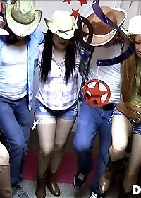 Hot college babes play ride the cowboy in this real college sex party hot hot