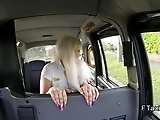 Blonde British bbw bangs in fake taxi