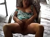 Horny Mature BBW MILF riding on a big hard black cock