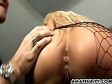 Busty amateur girlfriend anal fuck with cum