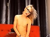 Sexy Blonde With Glasses Has Multiple Orgasms