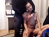 Teen girl in a softcore session