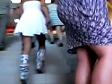 upskirt - a young mother in a thong